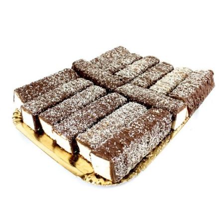 BARRETTE PICCOLE AL COCCO RICOPERTE CIOCCOLATO AL LATTE E COCCO RAPE' Sogni di Zucchero