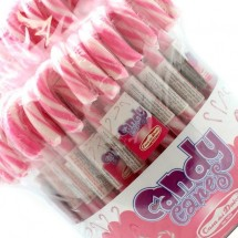 CANDY CANES BIANCO ROSA Pz 72 x 12g Casa Del Dolce in vendita all'ingrosso