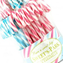CANDY CANES BLU/BIANCO E ROSA/BIANCO Pz 60 x 15g  Sweet's Park