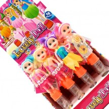 LOVELY DOLL BAMBOLINA GIOCATTOLO CON CARAMELLE Pz 16 x 5g Candy Toys in vendita all'ingrosso