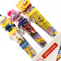MIX CANDY STICKS CON LENTI DI CIOCCOLATO PERSONAGGI ASSORTITI Pz 12 x 50g Bip in vendita all'ingrosso
