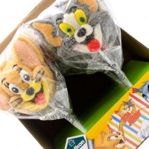 TOM & JERRY MALLOW POP FIGURA GUSTO FRAGOLA Pz 12 x 45g Relkon in vendita all'ingrosso