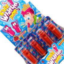 WHISTLE POP FISCHIETTO LECCA LECCA GUSTO FRAGOLA Pz 32 x 13g Kidz World in vendita all'ingrosso