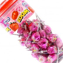 ZOOM MEGALOLLY GUSTO FRAGOLA CON RIPIENO DI BUBBLE GUM Pz 50 x 21g Vidal in vendita all'ingrosso